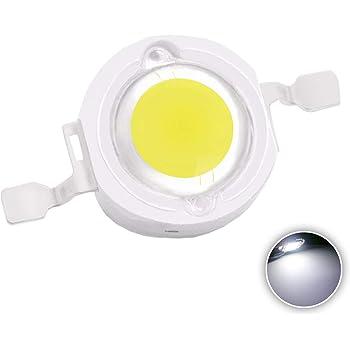Diodo led 1/W, 10 unidades color blanco