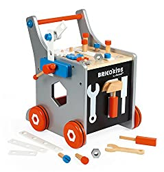 "HIS FIRST TOOL KIT: this beautiful wooden do-it-yourself trolley, accessible from 18 months old, will accompany budding DIY enthusiasts and ""jack-of-all-trades"" who will build, dismantle and rebuild endlessly! FIRST LEARNING: screwing, unscrewing, re..."