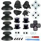 Replacement Thumbsticks Button Kit for PS4 Controller, L1 R1 L2 R2 Triggers, ABXY Buttons, D-pad, Springs and Conductive Rubber Pads Repair Kit for PS4 Slim, Pro Controller (Model: CUH-ZCT2U)