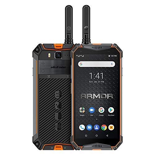 Ulefone Armor 3WT Móvil Resistente, teléfono para Exteriores con Walkie Talkie, Helio P70 6GB + 64GB, 5.7 Pulgadas FHD +, Batería de 10300 mAh,cámara 21MP + 8MP, IP69K Android 9.0, Global LTE
