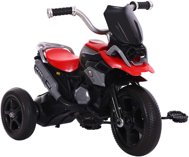 increíbles descuentos DDMD Triciclo de Niños Apariencia de Motocicleta simulada simulada simulada Bicicleta de Pedales de 3 Ruedas para Niños, para Niños de 2 a 7 años y Niños pequeños,rojo  más orden