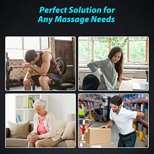 Massage Gun, Sportneer Deep Tissue Percussion Muscle Massager Gun for Pain Relief - Handheld Electric Body Massage Gun for Athletes, New Version Super Quiet Sports Drill Brushless Motor,Black