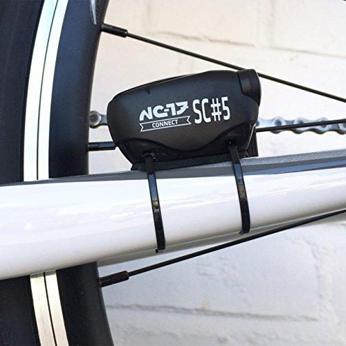 NC-17 Connect SC 5 sensor voor snelheid en trapfrequentie, voor iPhone, Android, fietscomputer met eenvoudige montage