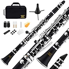 Moving Voice -- Eastar ECL-300 student clarinets have a steady and pleasant voice and a reliable tune. Designed for beginners or intermediate learners. Beautiful Appearance -- Elegant Bakelite body with nickel-plated keys, beautiful ring-wrapped bell...
