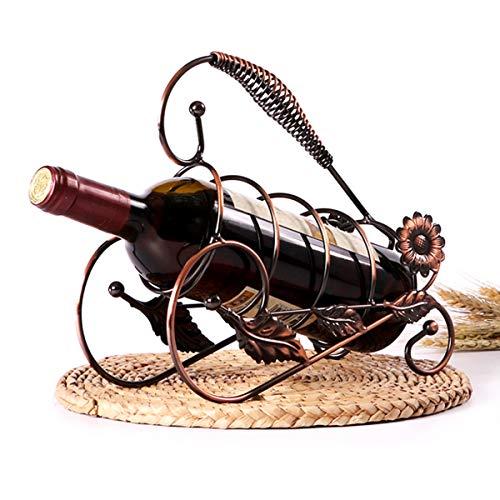 LMZX Estante de Vino Retro Botella de Vino en Forma de Girasol Soporte de Almacenamiento de Mesa para Vino decoración del hogar Bar Bodega Sótano Gabinete Pantrye Rack Stand Beer,Bronce