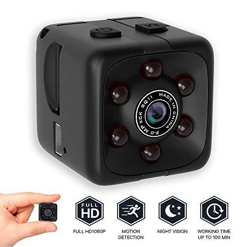 ANYIKE 1080P Mini Spy Verborgen Camera Full HD 140 Graden IR Nachtzicht Beveiliging Monitor Smart Camera Binnen/buiten Camcorder