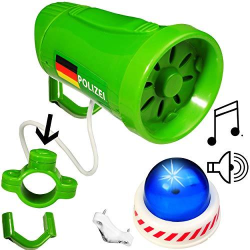 alles-meine.de GmbH 2 TLG. Set: mit 3 Sound - Effekten _ Fahrradklingel / Sirene - Polizei / Einsatzfahrzeug - Polizeisirene - Fahrradsirene / Fahrradhupe - Fahrradglocke / Hupe ..