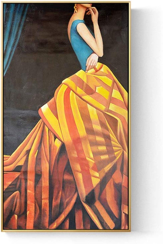 Centro comercial profesional integrado en línea. MQW Nordic Modern Minimalista Elegante Elegante Elegante Mujer Pintura Al óleo Ordenador Inyección De Tinta óleo Lienzo Mural Pintura Decorativa (a La Derecha) Arte Clasico ( Talla   3060cm )  ¡No dudes! ¡Compra ahora!