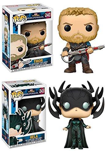 Funko Pop! Thor Ragnarok: Thor + Hela – Marvel Vinyl Bobble-Head Figure Set New