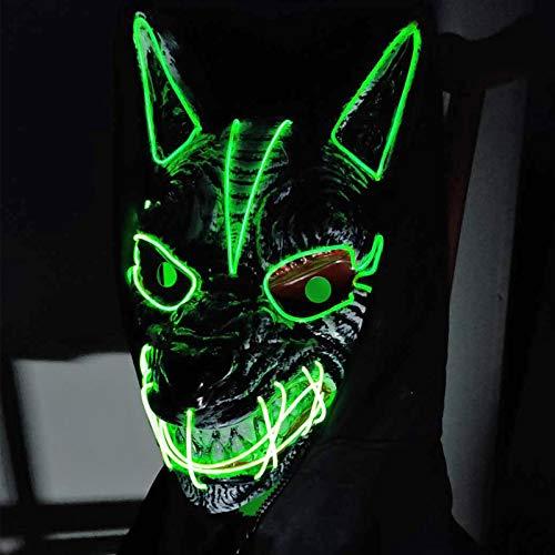 Hopeas Halloween LED Máscaras de Lobo Mascaras de Terror para Fiesta de Disfraces para Adultos (Batería no incluido)