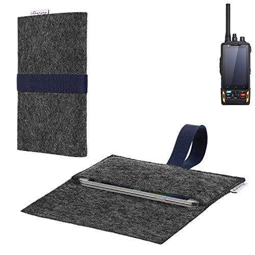 flat.design vegane Handy Hülle Aveiro für Ruggear RG760 passgenaue Filz Tasche Case Sleeve Made in Germany