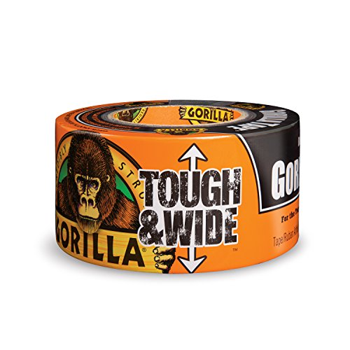 Gorilla Black Tough & Wide Duct Tape, 2.88