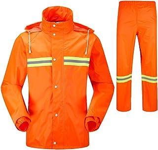 BGROESTWB Snow Rainwear Workwear Waterproof Hooded Rain Coat &trousers Multifunction Outdoor Cycling (Size : M)