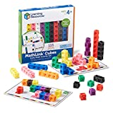 Learning Resources Early Math MathLink Cube Activity Set, Math Blocks, Early Math Skills, Back to School Activities, Classroom Learning Supplies, 115 Pieces, Ages 4+