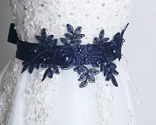 Bridal blue sash, Wedding dress sash