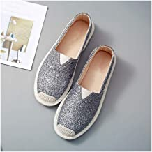LQHYA Women Flat Shoes Casual Loafers Round Toe Bling Canvas Female Black White Flats Shallow Single Shoes For Gilrs Footwear