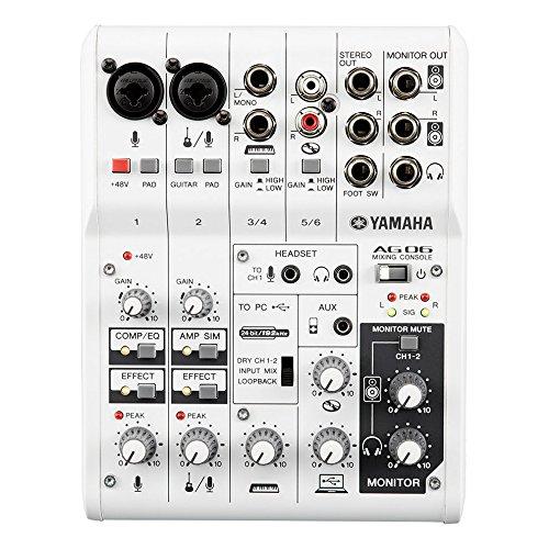 Yamaha AG06 Mezclador/interfaz de 6 canales