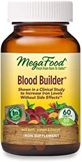MegaFood, Blood Builder, Daily Iron Supplement and Multivitamin, Supports Energy and Red Blood Cell Production Without Nau...