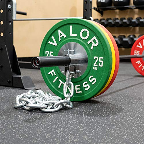 Valor Fitness Steel Weight Lifting Chains with Collars for Power Lifting Weightlifting Strength Training – Squats Bench Press Workout Dips Pushup