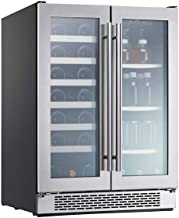 Zephyr PRWB24C32AG 24 Inch 5.18 Cubic Feet. Capacity Freestanding or Built In Full Size Beverage Center, in Stainless Steel