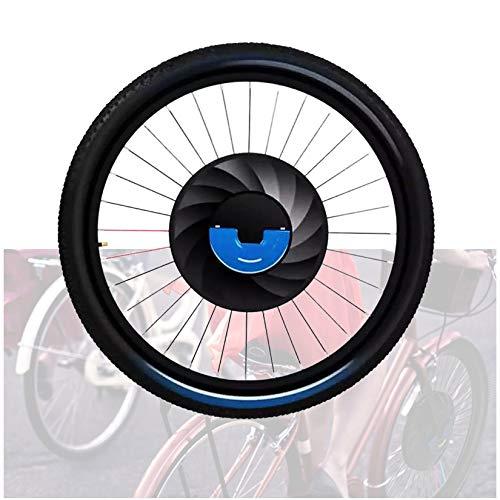 WishY 36v 240w EléCtrica Bicicleta ConversióN Kit, Delantero Rueda Bicicleta ConversióN Kit, Motores Electricos Bicicletas con Bateria, 3 Archivos Velocidad Ajustar,24inch