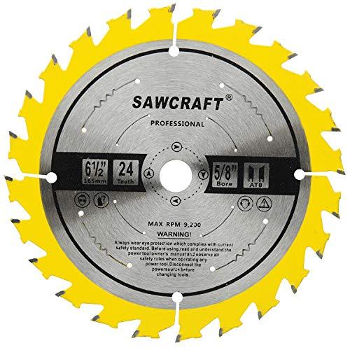 Sawcraft Circular Saw Blade 6-1/2 Inch 24 Teeth 5/8