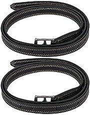 Juicemoo 𝐂𝒚𝐛𝐞𝐫 𝐌𝐨𝐧𝐝𝐚𝒚 Cinturón de Estribo, cinturón de Estribo de Caballo de Gran Bretaña, Cuero de Microfibra Suave Gran Bretaña Saddl para Caballo(Black)