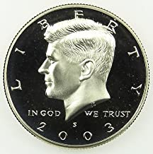 2003 S Gem Proof Kennedy Half Dollar US Coin Half Dollar Uncirculated US Mint