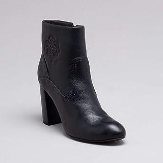 Ankle Boot Couro Preta