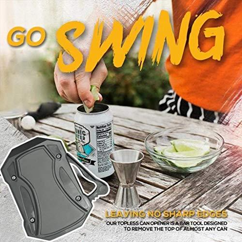 Xbeast Tragbarer Dosenöffner, Go Swing Topless Dosenöffner Schraubverschlussglas Multifunktionaler Flaschenöffner, Sicherheit Einfacher manueller Dosenöffner, keine scharfe Kante, Küchenöffner Konservenmesser