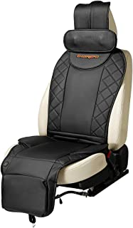 ENGREPO Car Massager, Massage Seat Cushion, Electric Shiatsu Neck Back and Hip Massage, Neck Height Adjustable, Airbag Type Massage, Relieve Muscle Pain, Designed Especially for Car Massage