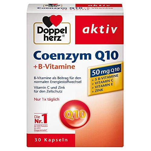Doppelherz Coenzym Q10 + B-Vitamine – mit Zink, Vitamin B6, B12 und C als Beitrag zur normalen Funktion des Immunsystems – 30 Kapseln
