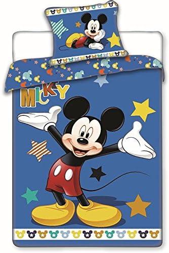 Disney - 17BS167 - Jerry Fabrics Parure de Lit, Coton - MINNIE MOUSE - Multicolore (Rose) Housse de couette 140 x 200 cm et Taie 70 x 90 cm