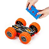 MSLAN Cyclone Mini Remote Control Car for Kids - Double Sided Fast Off Road Stunt Mini RC Cars for Boys and Girls, RC Flip Car