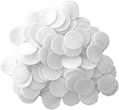 Playfully Ever After 1 Inch White 100pc Stiff Felt Circles