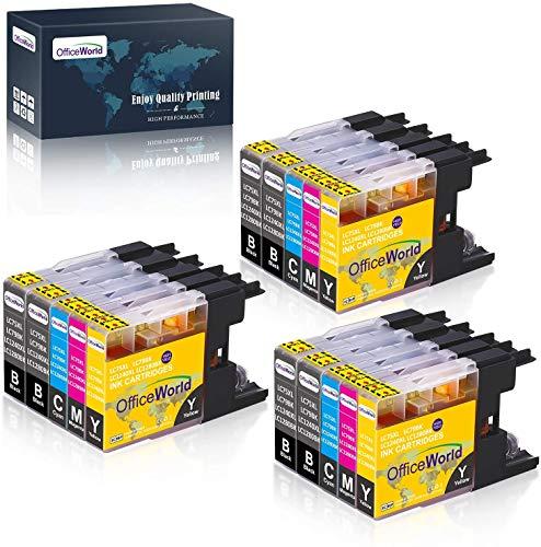 OfficeWorld Kompatible Patronen Ersatz für Brother LC1240 LC1280 Tintenpatronen Kompatibel mit Brother MFC-J5910DW DCP-J725DW DCP-J625DW MFC-J825DW MFC-J6510DW MFC-J6710DW MFC-J6910DW