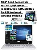 ASUS Q304UA 13.3-inch 2-in-1 Touchscreen Full HD Laptop PC, 7th Intel Core i5-7200U