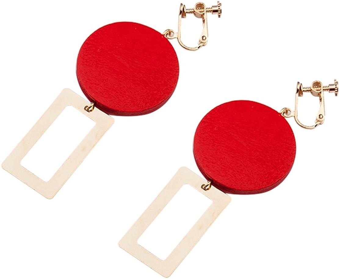 Freedi Women Ear Cuffs Geometry Dangle Clip On Earrings Non Pierced Ears Fashion Birthday Jewelry Gift for Girls
