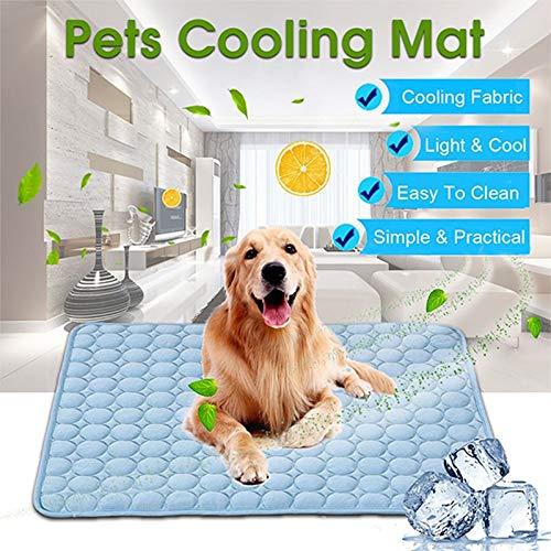 Perro de refrigeración Mat grande 102x70cm mascotas refrigeración Mat perro lavable pad for dormir del verano del asiento Camas perreras cajas perreras Cajas Camas Sofá de coches ( Size : 70x56cm )