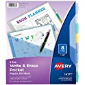 Avery 8-Tab Plastic Binder Dividers with Pockets