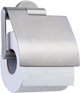 Tiger Boston Toiletrolhouder Met Klep, Rvs Geborsteld, 13,7 x 14 x 6,3 Cm