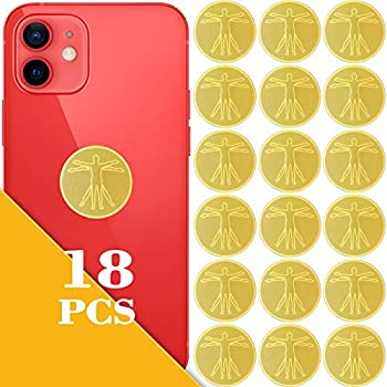 18 Pieces EMF Protection Cell Phone Stickers Anti Radiation Protector Stickers Electronic Equipment Protection Stickers Electronic Devices Accessories for Mobile Phones Laptops Tablet Computers
