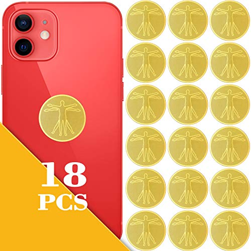 18 Pieces EMF Protection Cell Phone Stickers Anti Radiation Protector Stickers Electronic Equipment Protection Stickers Electronic Devices Accessories for Mobile Phones, Laptops, Tablet Computers