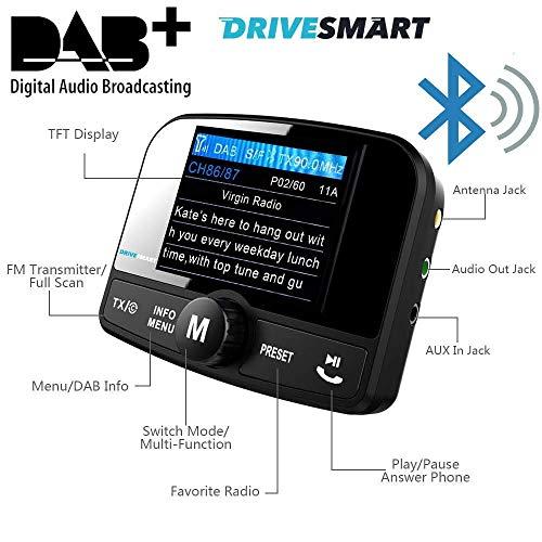 Kfz-Adapter für DAB- und DAB+-Radio. Überträgt DAB über FM zu Ihrem Autoradio. Bluetooth für Freisprecheinrichtung und kabelloses Musik-Streaming