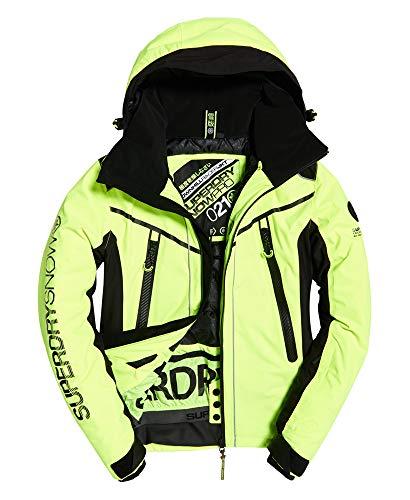Superdry Herren Downhill Racer Padded Jacke, Rescue Yellow/Black, Größe S