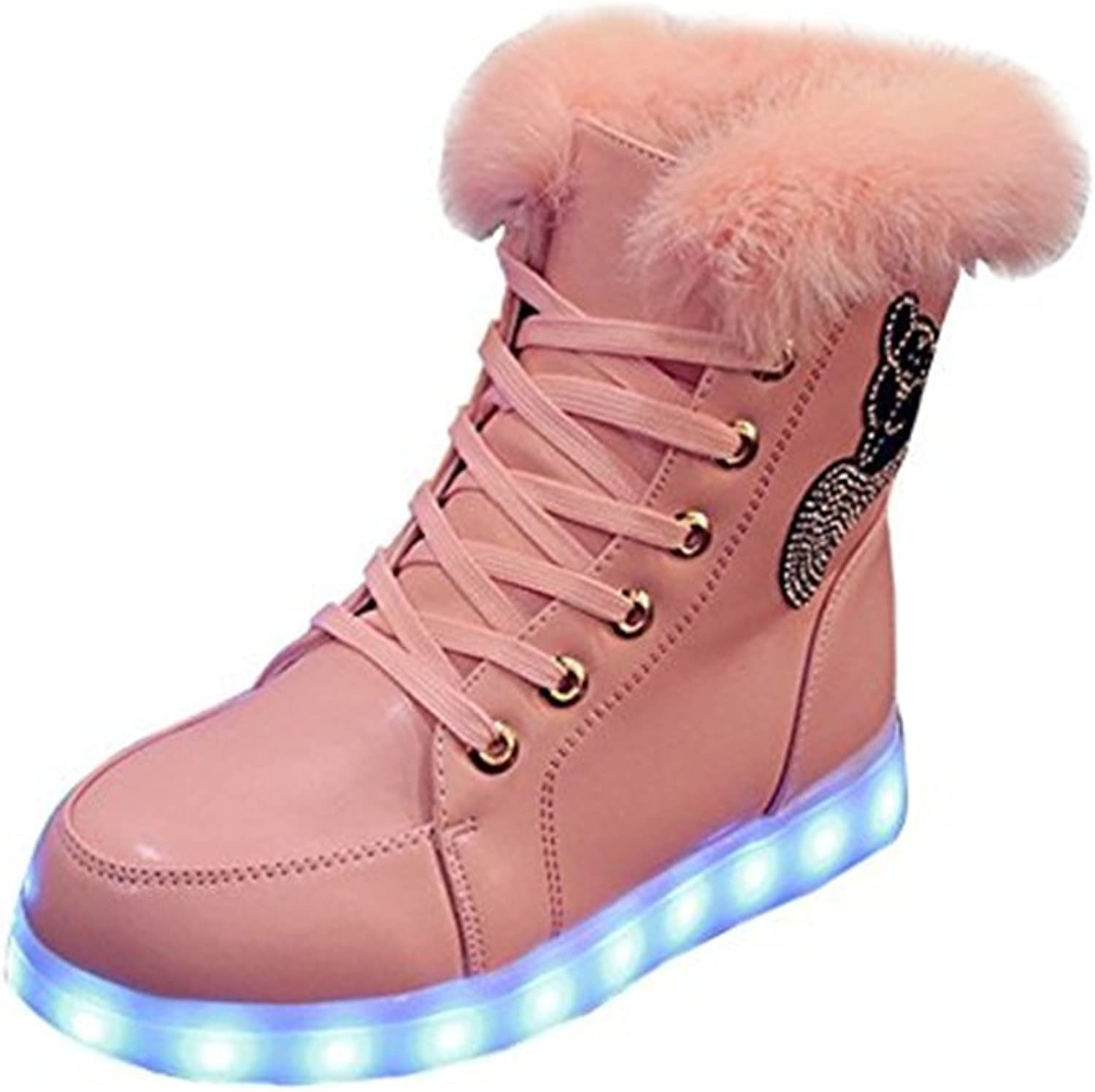 A2kmsmss5a Women USB Charging Light Up shoes High Couple LED shoes