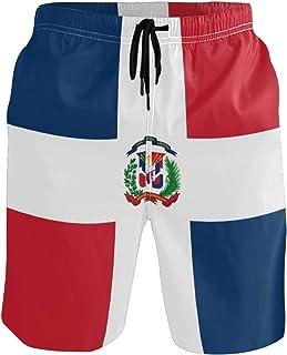 FANTAZIO - Pantalones cortos de playa con cordón con bander