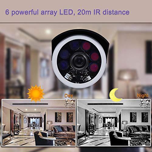 Cámara IP de Alta definición Impermeable al Aire Libre de 5MP con visión Nocturna por Infrarrojos, detección de Movimiento de Seguridad para el hogar, Monitor P2P