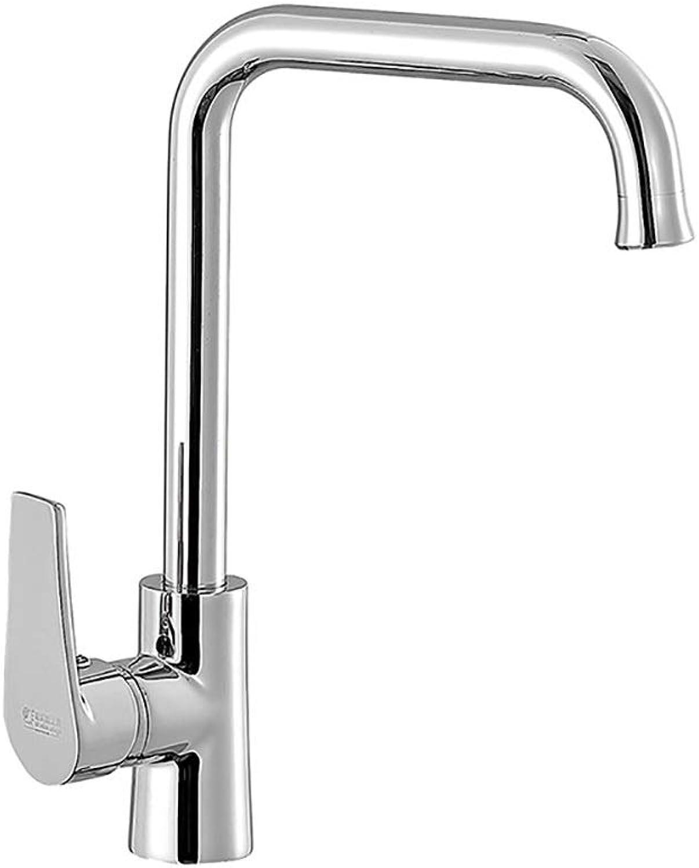 YYF-FAUCET Basin Tap European Copper Cold Hot Water Faucet Bathroom Kitchen redatable Single Hole Sink Desktop, Ceramic Spool (color   Silver)