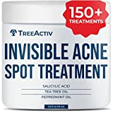 TreeActiv Invisible Acne Spot Treatment | Clarifying Salicylic Acid + Tea Tree Hormonal & Cystic Acne Treatment for Teens & Adults | Pimple and Scars Remover Cream for Face & Body | 150+ Treatments